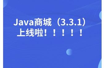 7月发布会丨Java商城(3.3.1)上线啦!!!!